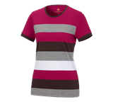 e.s. Pique-Shirt  cotton stripe, dam