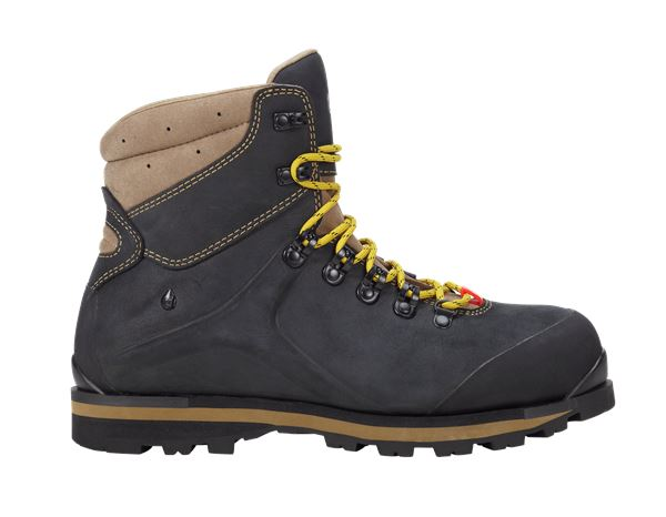 e.s. S3 Safety boots Alrakis mid black/walnut/wheat