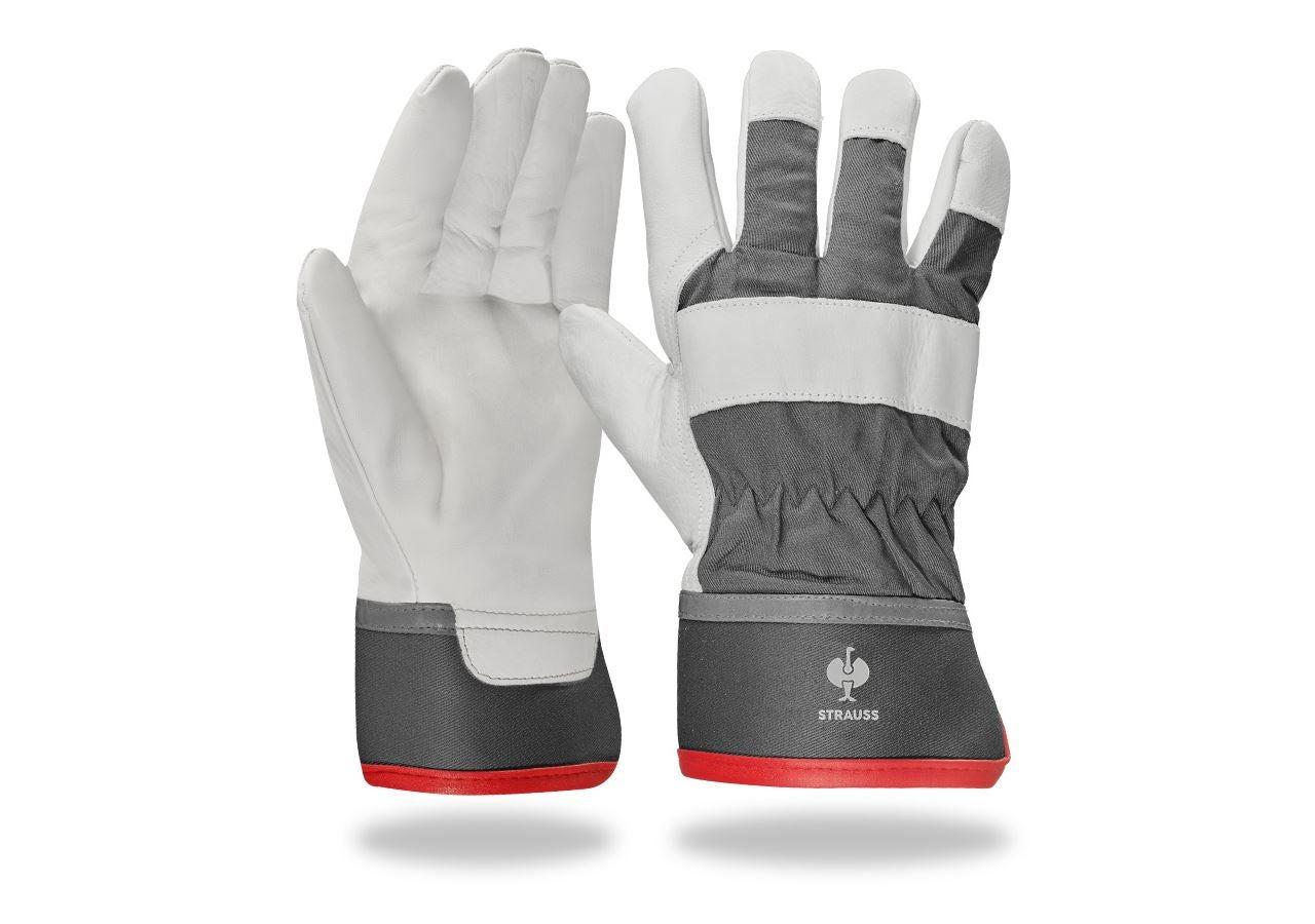 Leather: Grain leather winter gloves Yukon