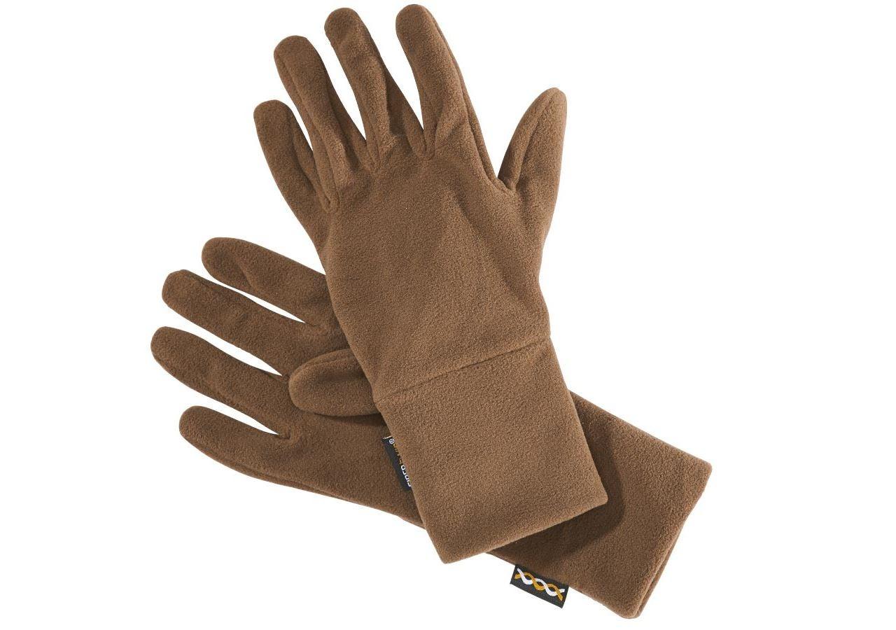 Accessories: e.s. FIBERTWIN® microfleece gloves + chestnut