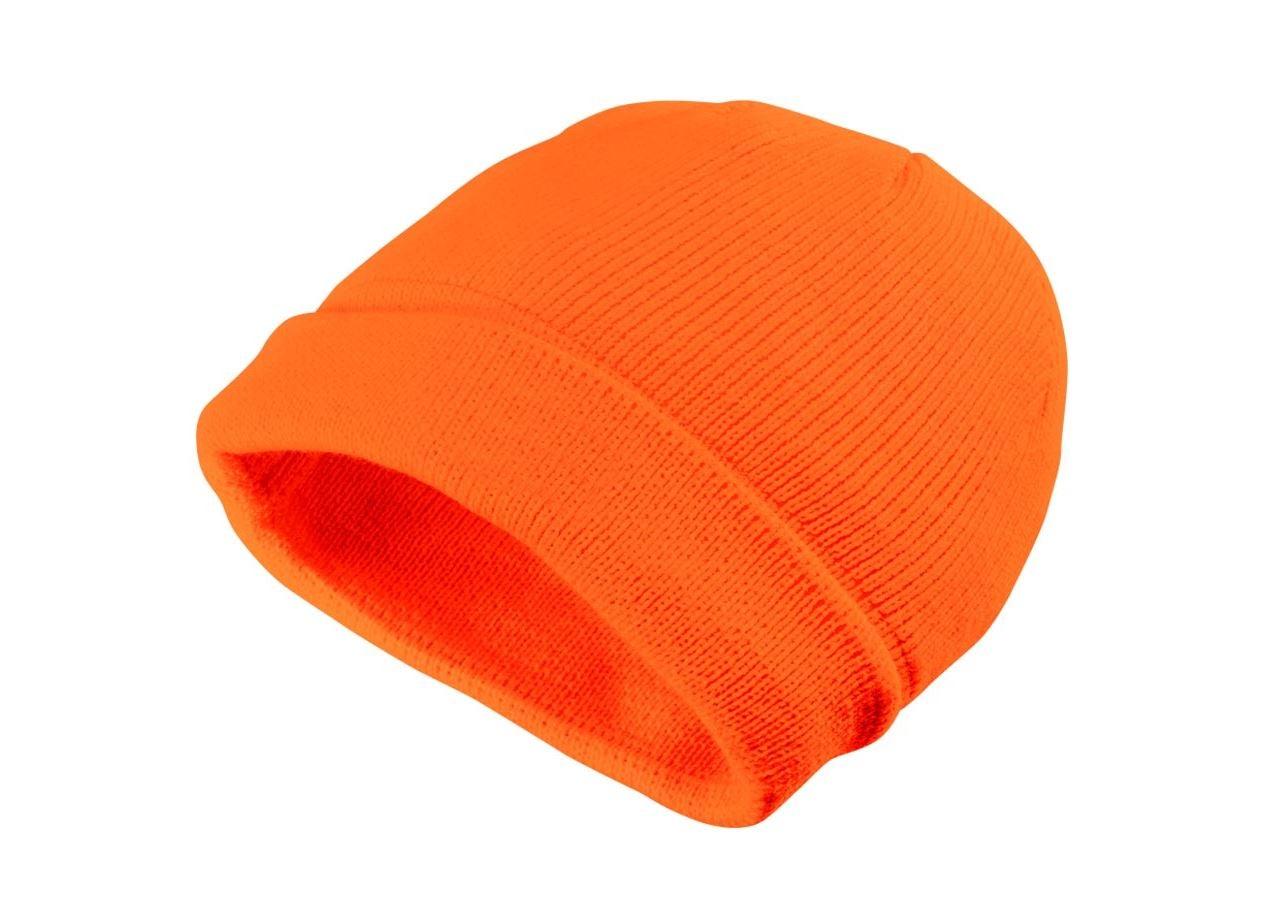 Accessoarer: Stickad vintermössa Neon + orange