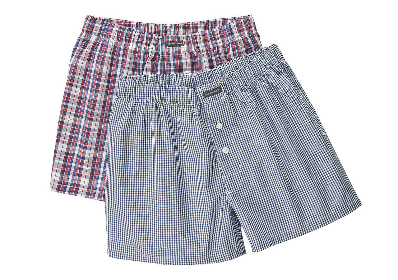 Underkläder |  Underställ: e.s. boxer shorts, förpackning om 2 + vit/pacific+röd/pacific/vit