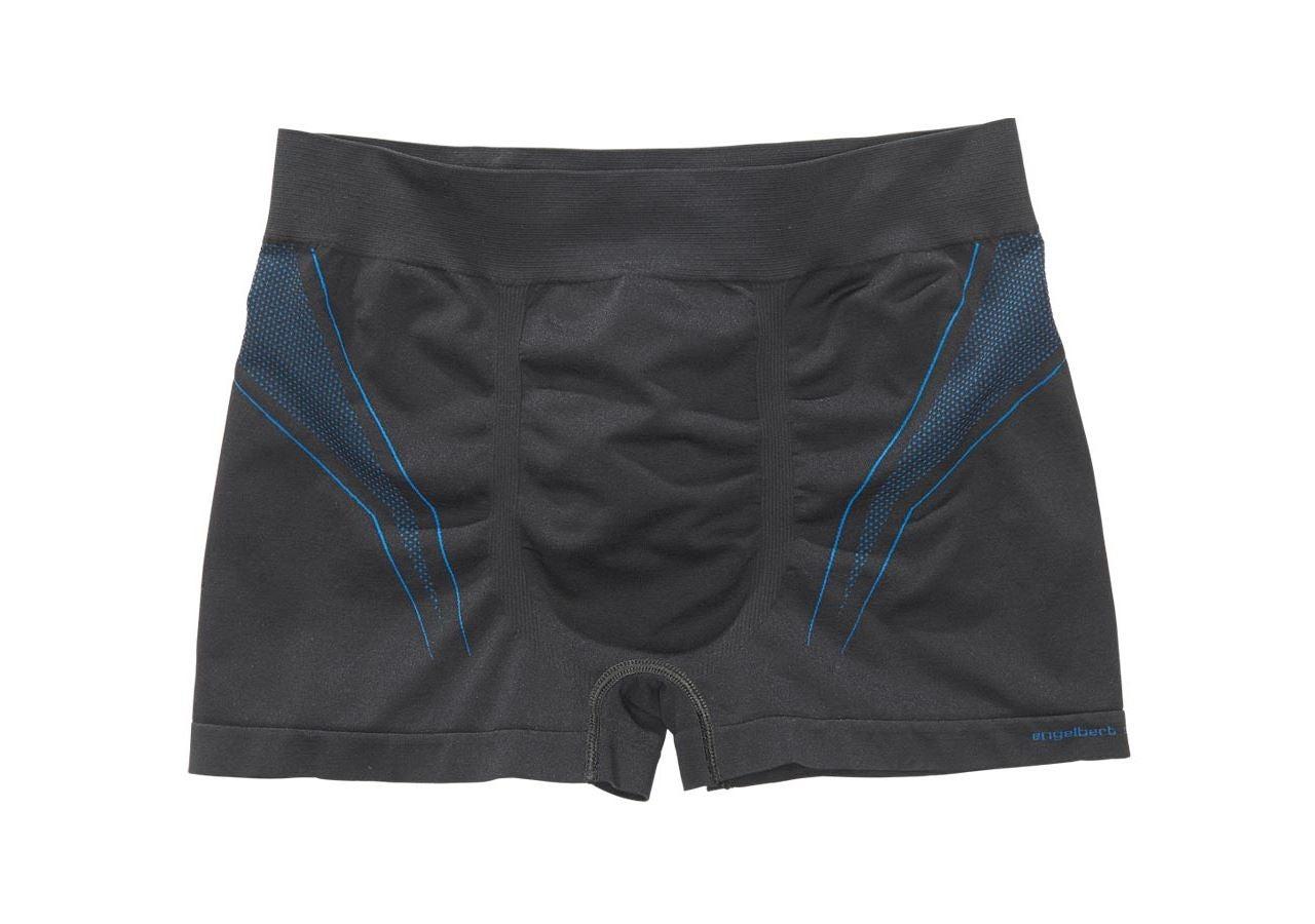 Underkläder |  Underställ: e.s. kalsong seamless - warm + svart/gentianablå