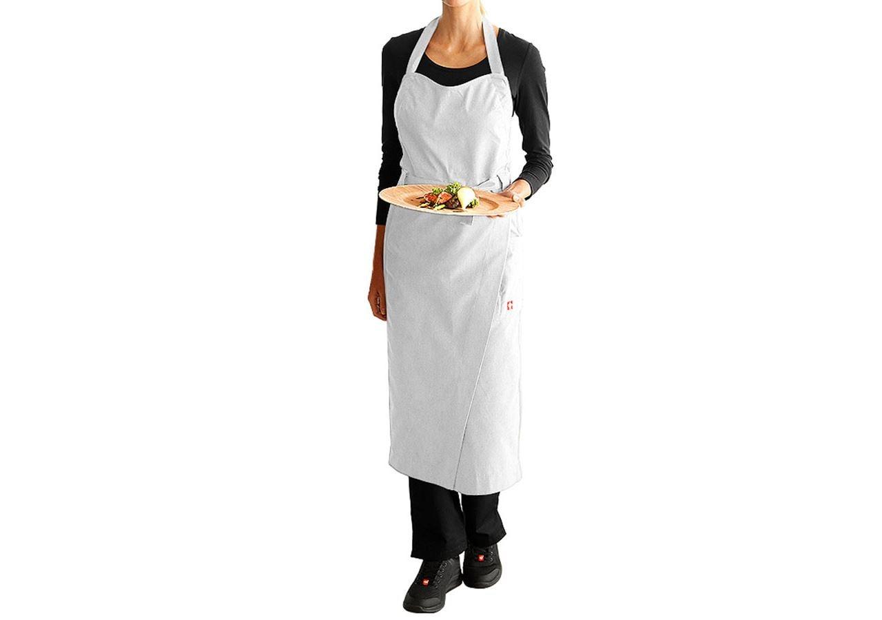 Förkläde: Bröstlappsförkläde e.s.fusion, dam + vit