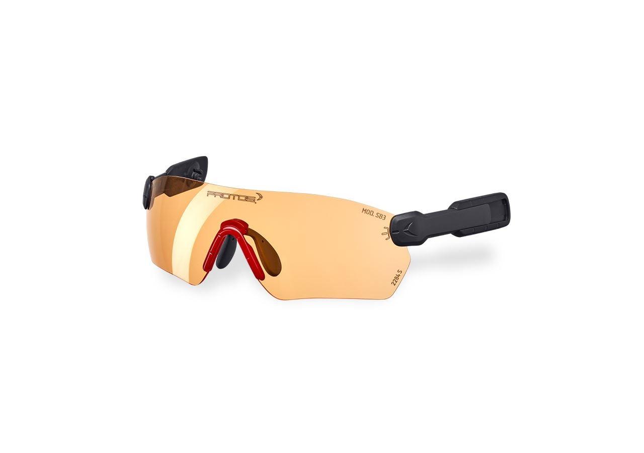 Tillbehör: e.s. skyddsglasögon  Protos® Integral + orange