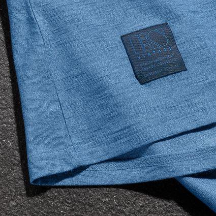 Överdelar: T-Shirt e.s.vintage, dam + arktisk blå melange 2