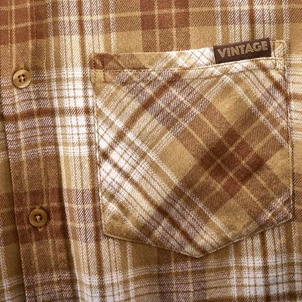 Överdelar: Rutig skjorta e.s.vintage + sepia rutig 2