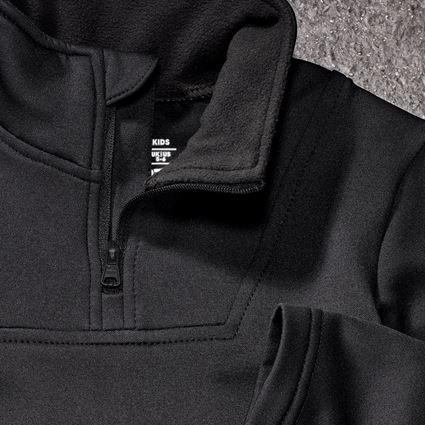 Shirts, Pullover & more: Funct.Troyer thermo stretch e.s.concrete child. + black 2