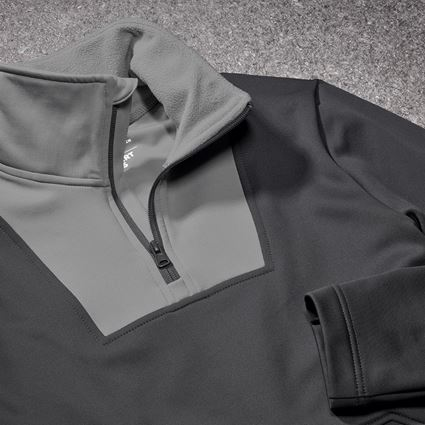 Shirts, Pullover & more: Functional-troyer thermo stretch e.s.concrete + anthracite/pearlgrey 2