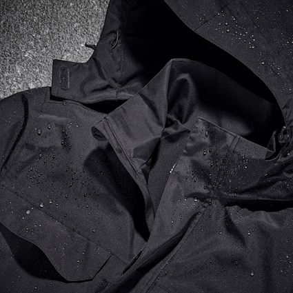 Work Jackets: Rain jacket e.s.concrete + black 2