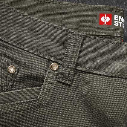 Arbetsbyxor: 5-ficks-byxa e.s.vintage + kamouflage-grön 2