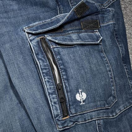 Arbetsbyxor: Cargo worker-jeans e.s.concrete + stonewashed 2