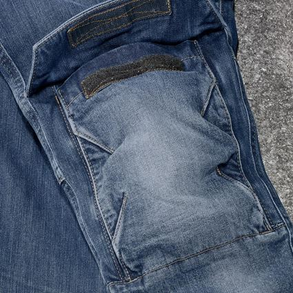 Work Trousers: Cargo worker jeans e.s.concrete, ladies' + stonewashed 2