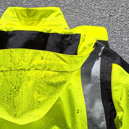 Arbetsjackor: e.s. Väderskyddsparka multinorm high-vis + varselgul/svart 2