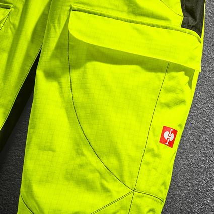 Work Trousers: e.s. Weatherproof trousers multinorm high-vis + high-vis yellow/black 2