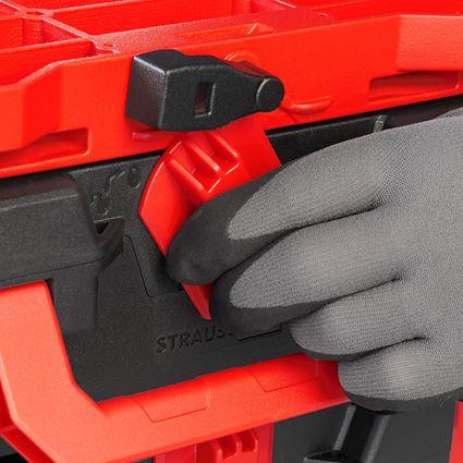 Verktygslådor: STRAUSSbox hybridadapterplatta + röd/svart 2