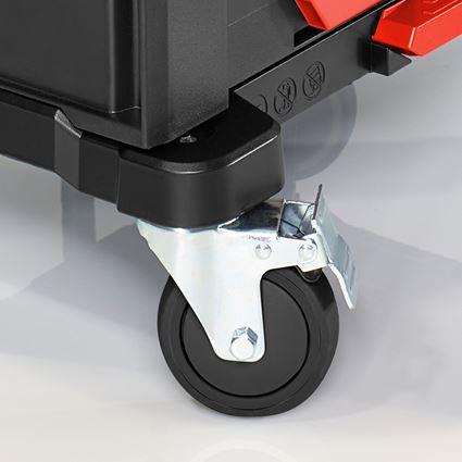 Verktygslådor: STRAUSSbox Cart + svart/röd 2