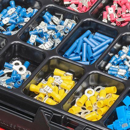 Smådelssortiment: Kabelförbindare, isolerad (bil), i STRAUSSbox 118 2