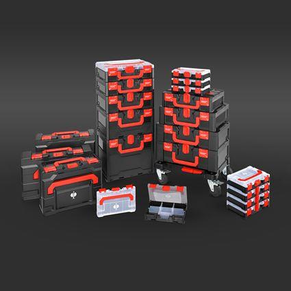 "Verktygslådor: STRAUSSbox verktygs-set Allround 1/4"" 2"