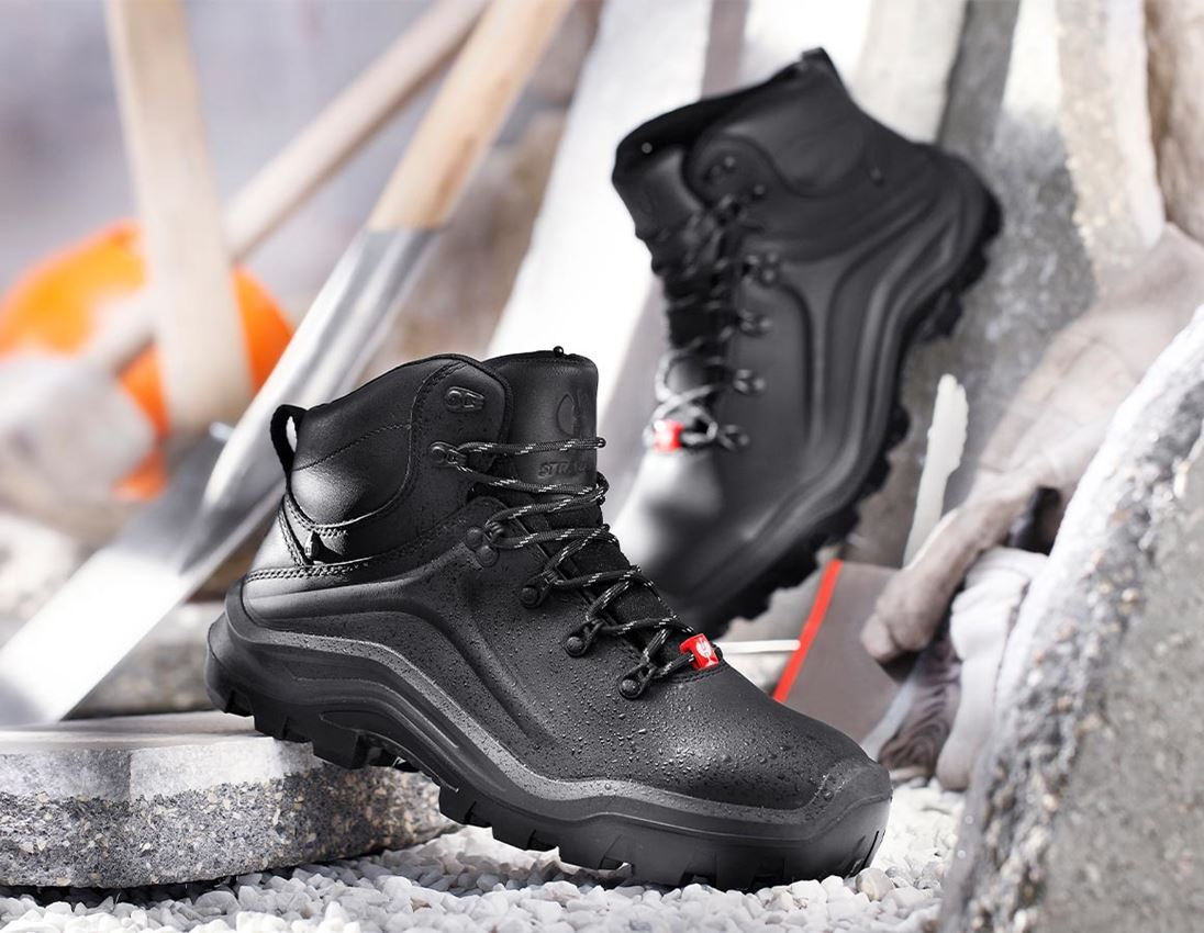 S3: e.s. S3 Safety boots Cebus mid + black