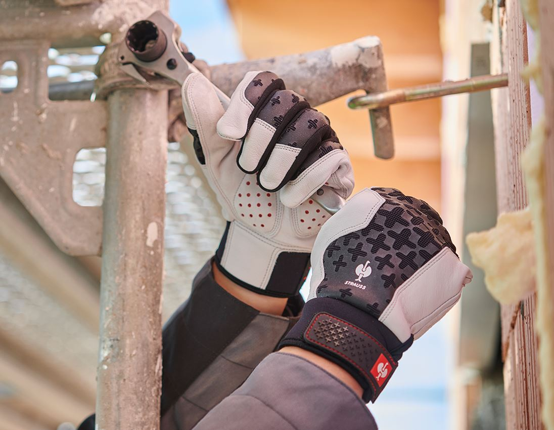 Leather: e.s. Leather assembly gloves ergoplus