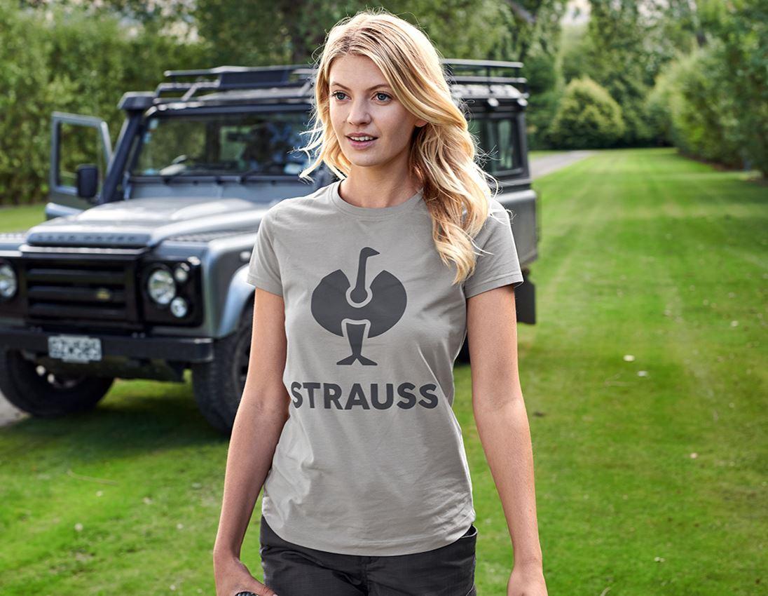 Överdelar: T-Shirt e.s.concrete, dam + pärlgrå