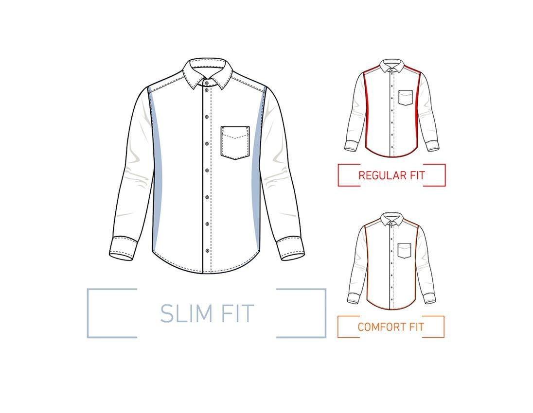 Överdelar: e.s. Kontorsskjorta cotton stretch, slim fit + frostblå 1