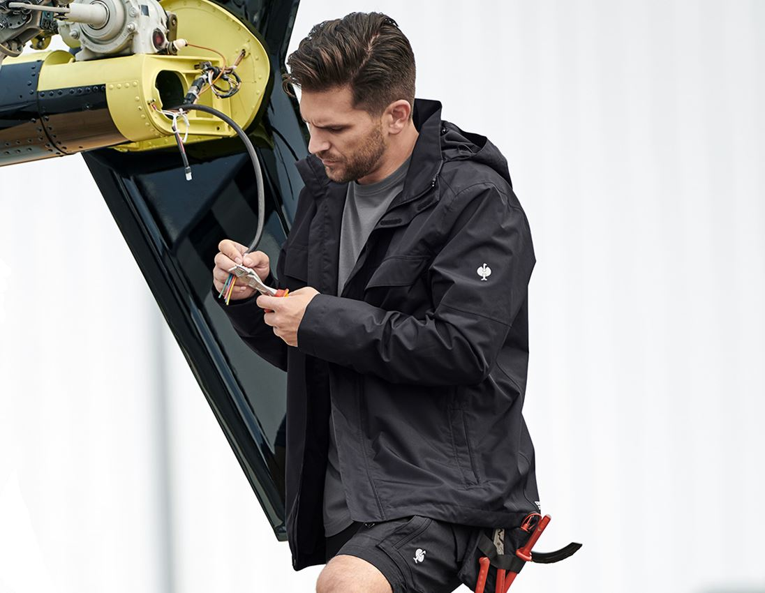 Work Jackets: Rain jacket e.s.concrete + black