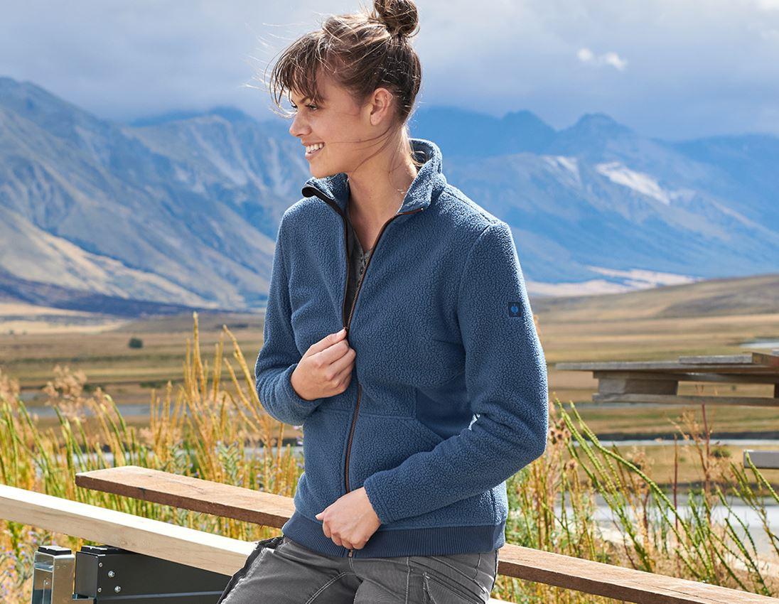 Arbetsjackor: Fiberpälsjacka e.s.vintage, dam + arktisk blå
