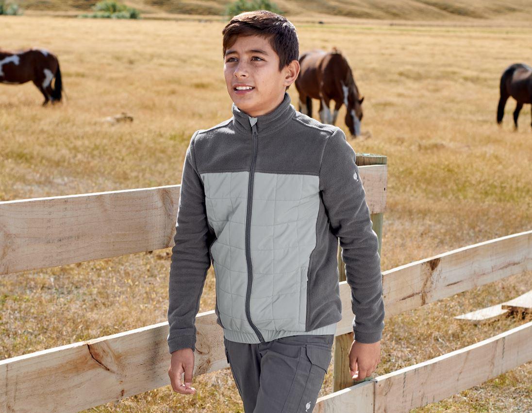 Jackets: Hybrid fleece jacket e.s.concrete, children's + anthracite/pearlgrey