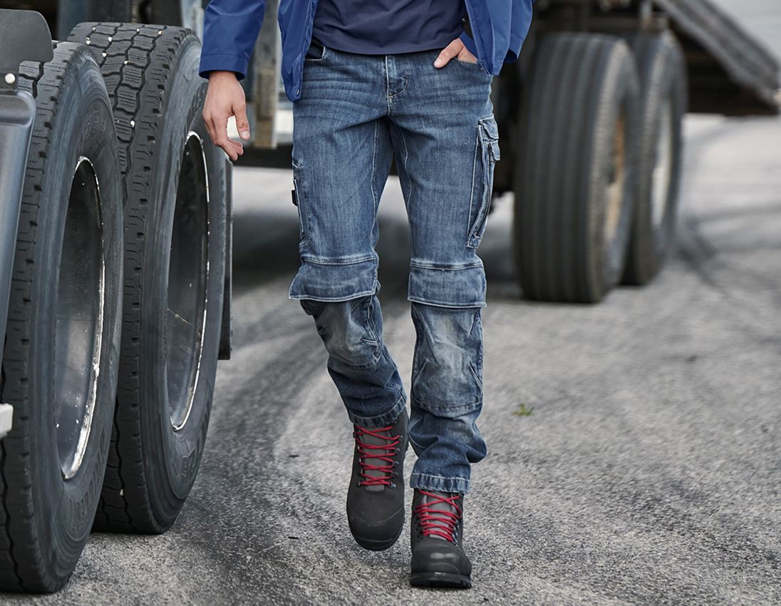 Arbetsbyxor: Cargo worker-jeans e.s.concrete + stonewashed