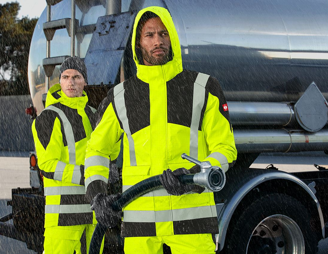 Arbetsjackor: e.s. Väderskyddsjacka multinorm high-vis + varselgul/svart