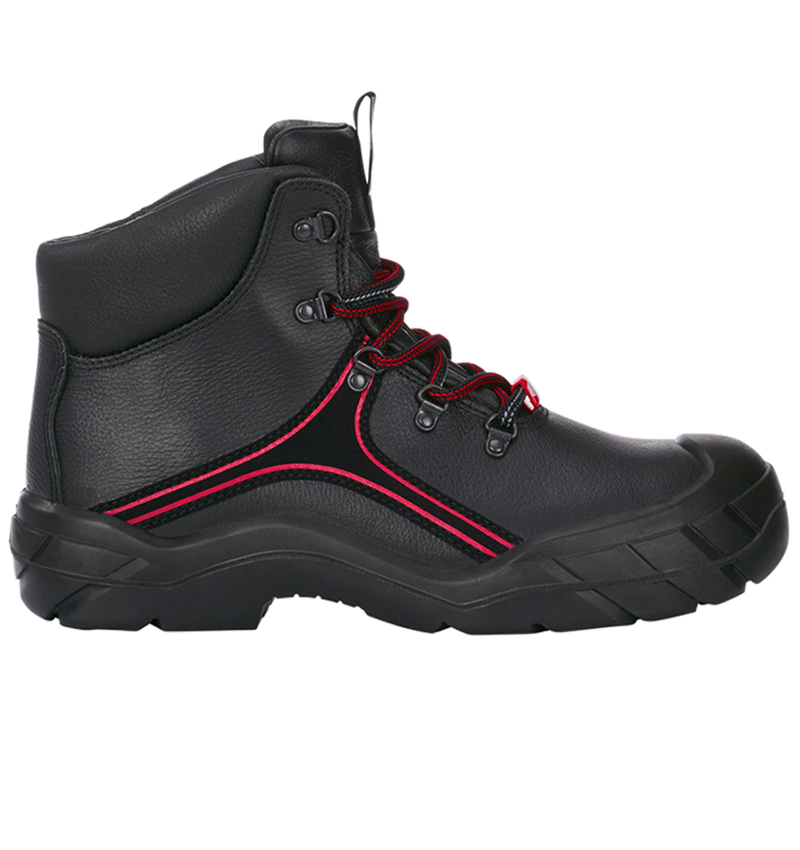 S3: e.s. S3 Safety boots Matar + black/red