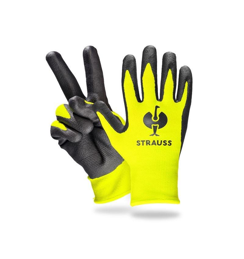 Accessories: e.s. Children's nitrile foam gloves + high-vis yellow