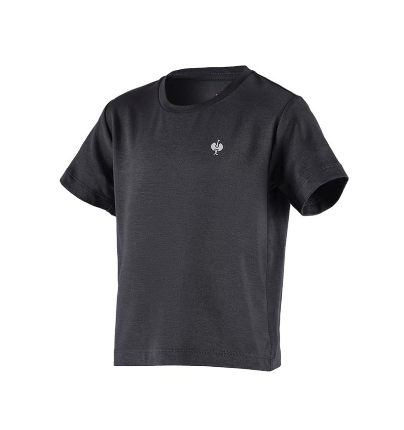 Överdelar: Modal-shirt e.s. ventura vintage, barn + svart
