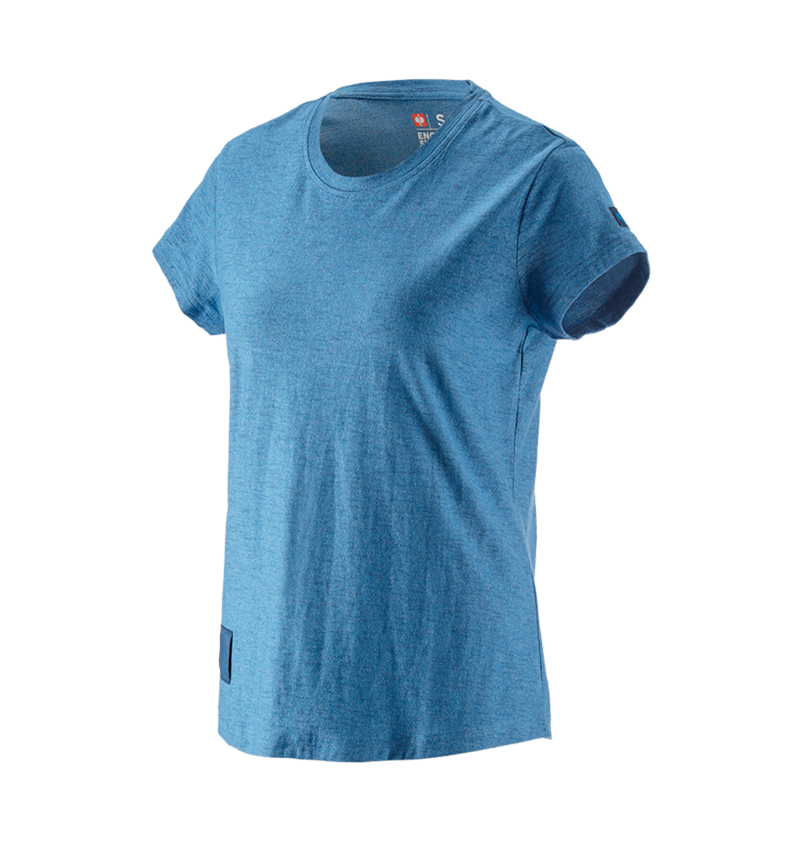 Överdelar: T-Shirt e.s.vintage, dam + arktisk blå melange
