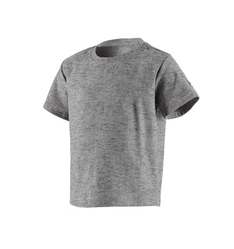 Överdelar: T-Shirt e.s.vintage, barn + svart melange