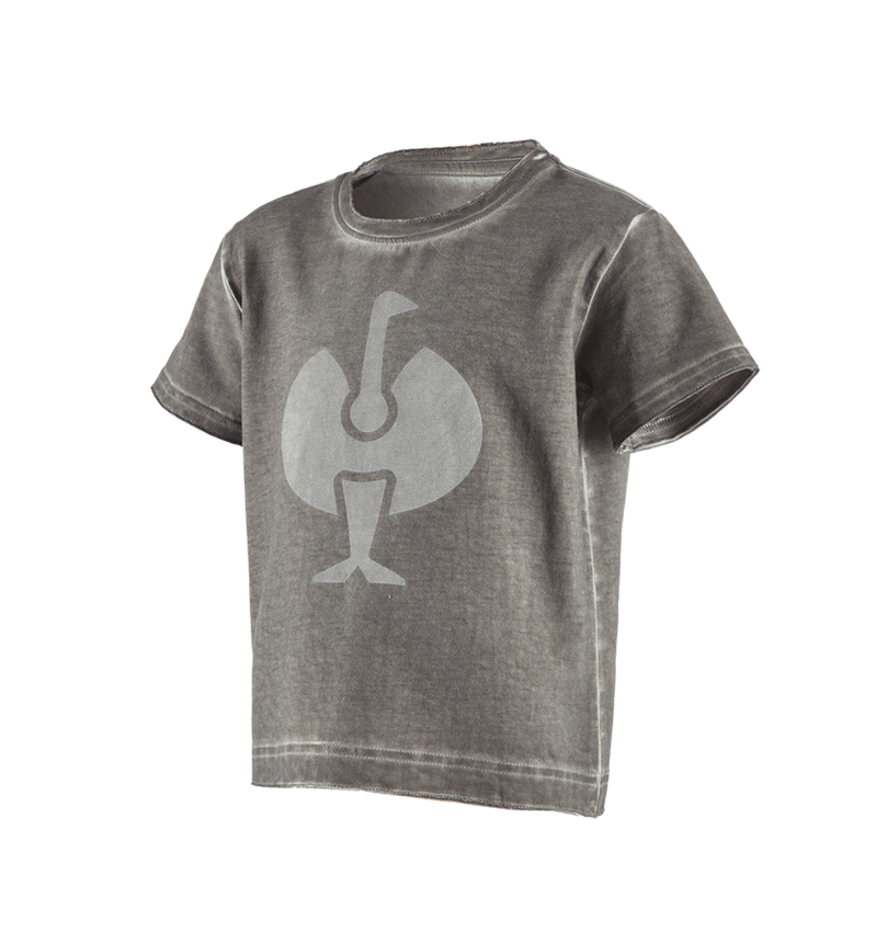 Överdelar: T-Shirt e.s.motion ten ostrich, barn + granit vintage