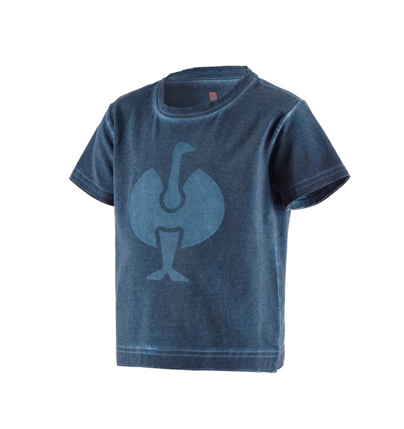 Överdelar: T-Shirt e.s.motion ten ostrich, barn + skifferblå vintage