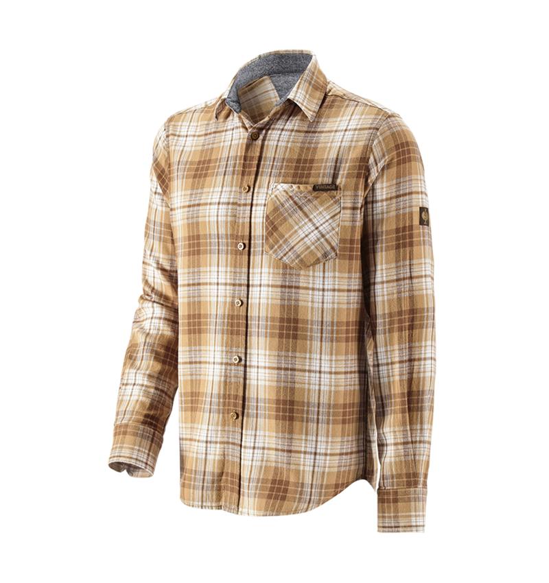 Överdelar: Rutig skjorta e.s.vintage + sepia rutig