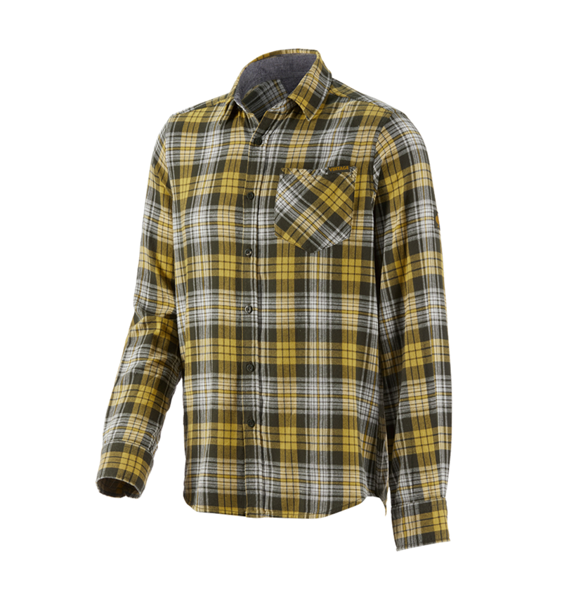 Överdelar: Rutig skjorta e.s.vintage + kamouflage grön rutigt