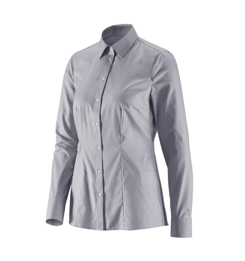 Shirts, Pullover & more: e.s. Business blouse cotton str. lad. regular fit + mistygrey
