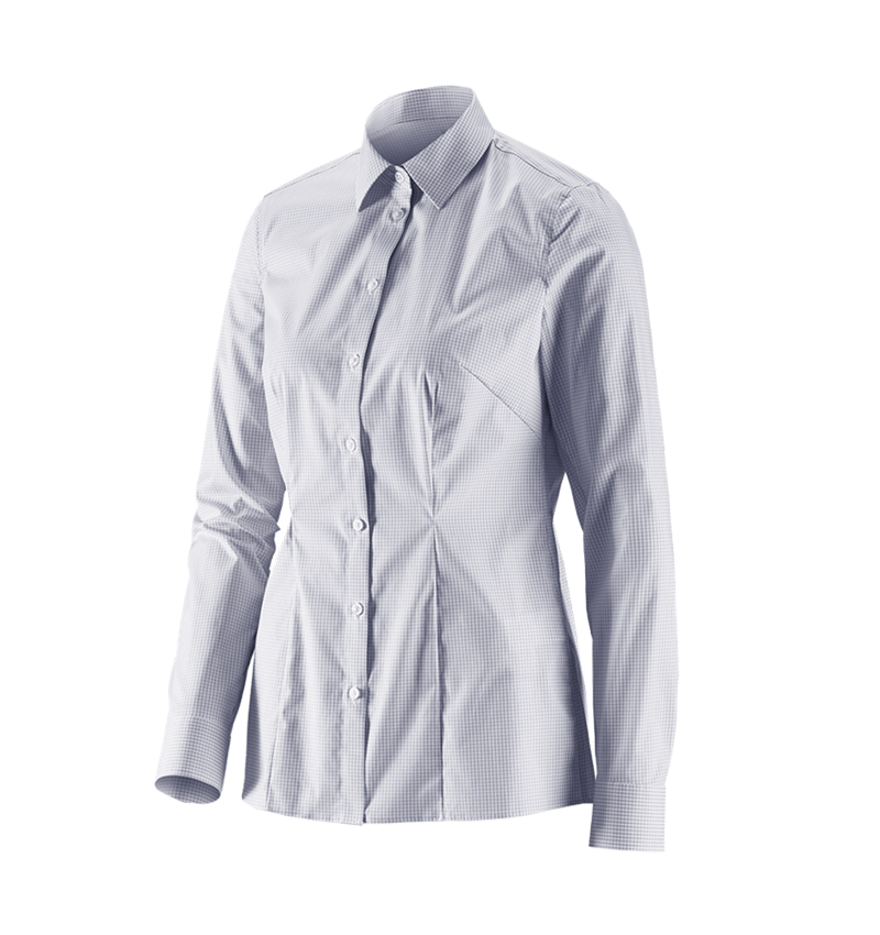 Shirts, Pullover & more: e.s. Business blouse cotton str. lad. regular fit + mistygrey checked