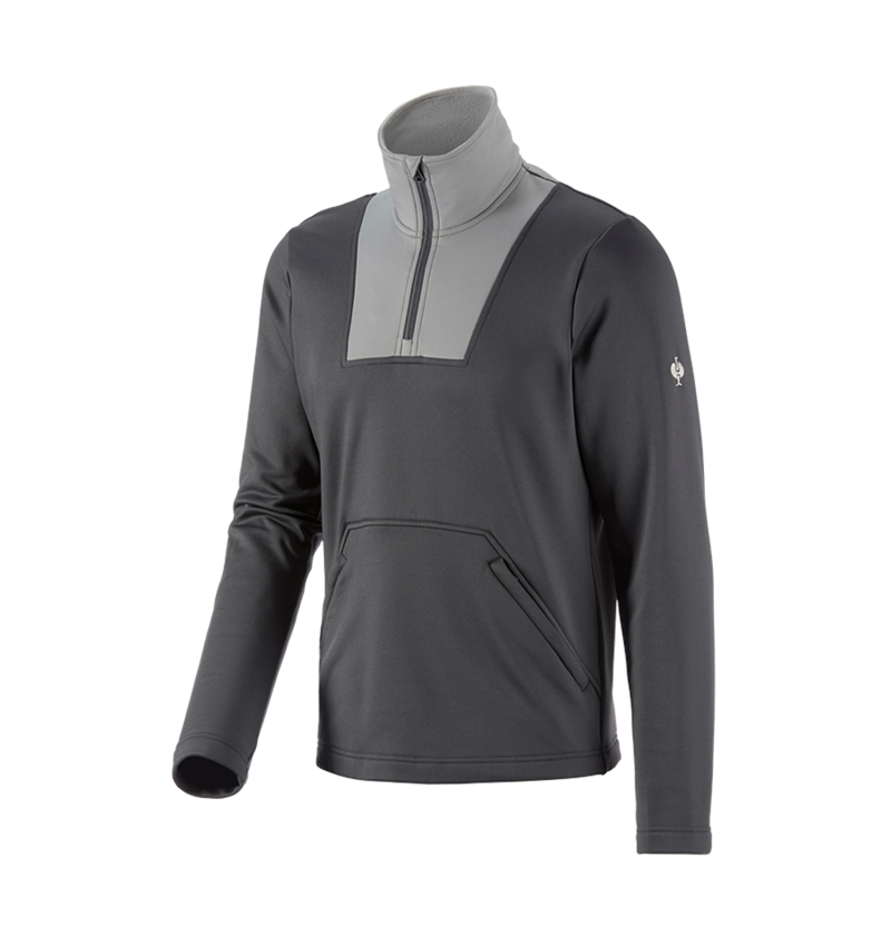 Shirts, Pullover & more: Functional-troyer thermo stretch e.s.concrete + anthracite/pearlgrey