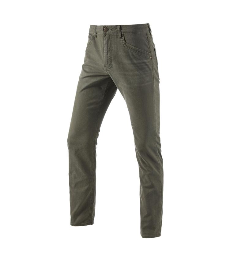 Arbetsbyxor: 5-ficks-byxa e.s.vintage + kamouflage-grön