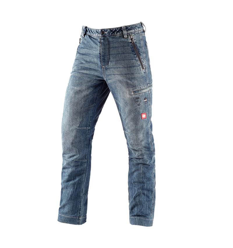 Arbetsbyxor: e.s. skogsbruks-snittskydds-jeans + stonewashed