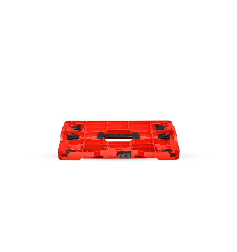 Verktygslådor: STRAUSSbox hybridadapterplatta + röd/svart