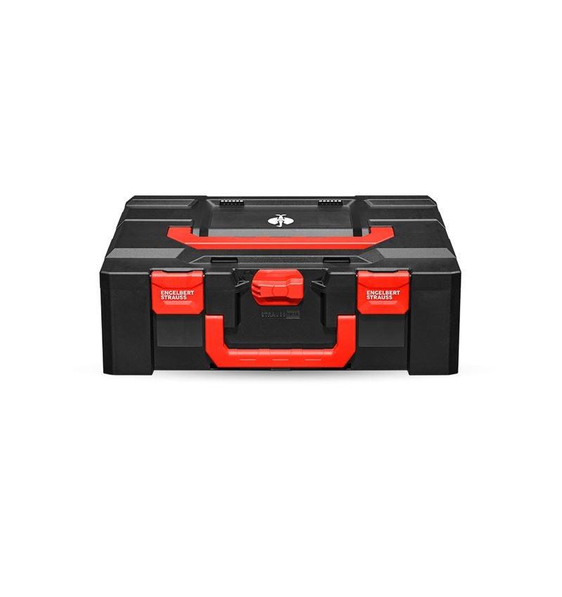 Verktygslådor: STRAUSSbox 165 large + svart/röd