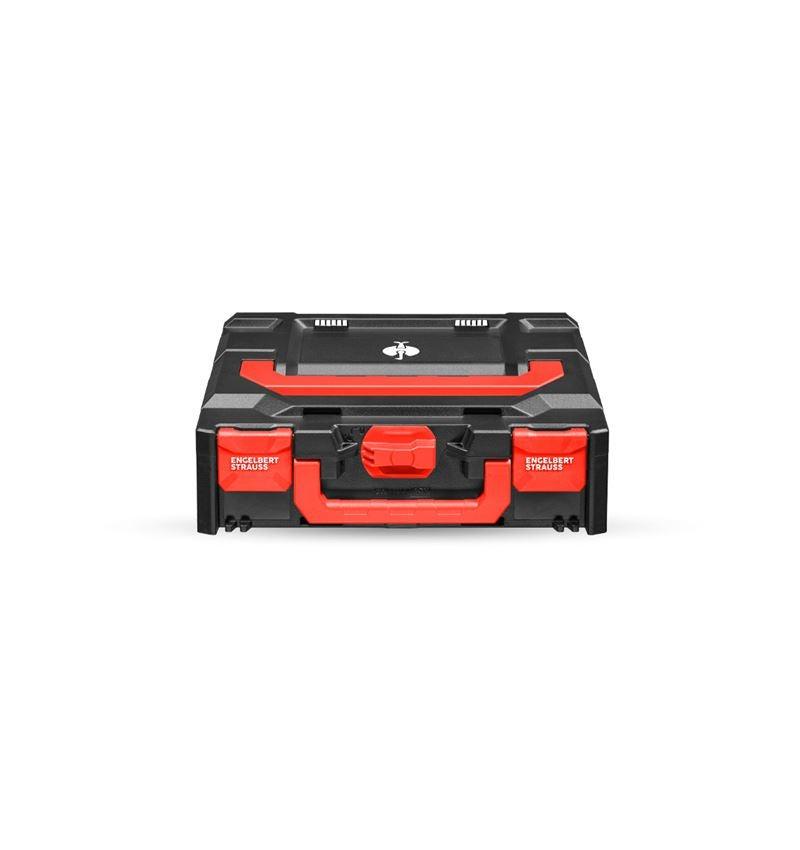 Verktygslådor: STRAUSSbox 118 midi + svart/röd