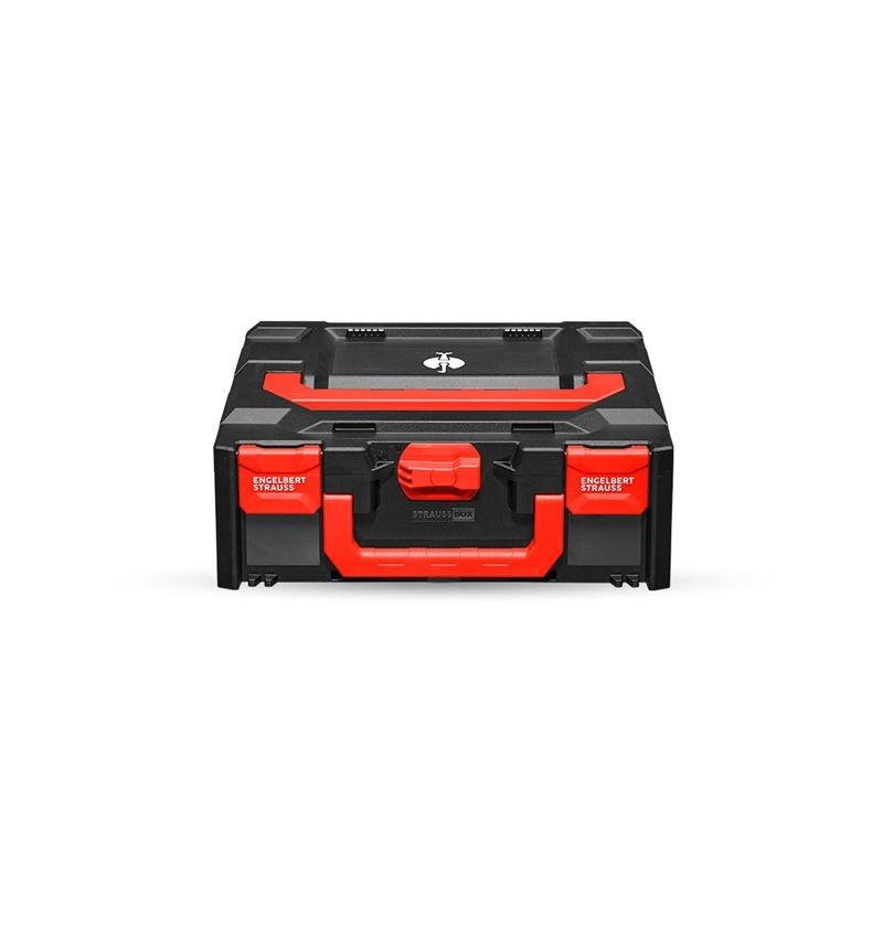 Verktygslådor: STRAUSSbox 145 midi + svart/röd